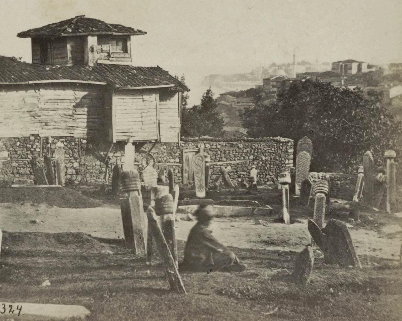 Ayaspaşa'dan Cihangir ve Sarayburnu / Charles Gerard, 1860 - 1880