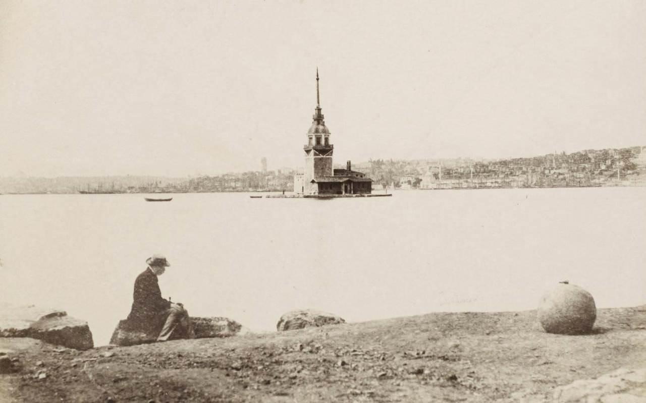 Kızkulesi / Adolphe Saum, 1865-1870