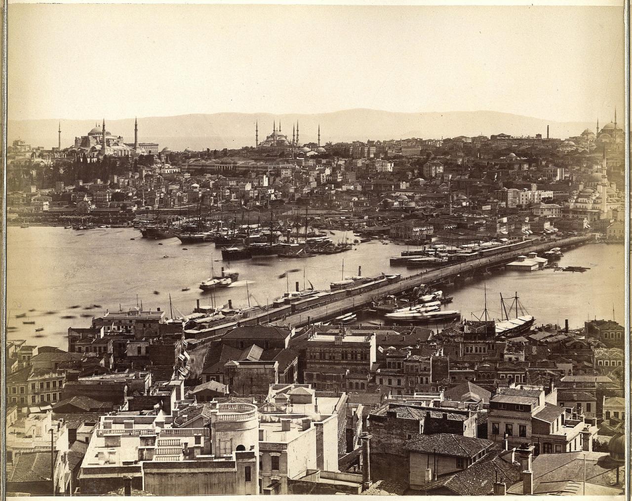 Galata Kulesi'nden Panoramik Görünüm - 5 Guillaume Berggren, 1875