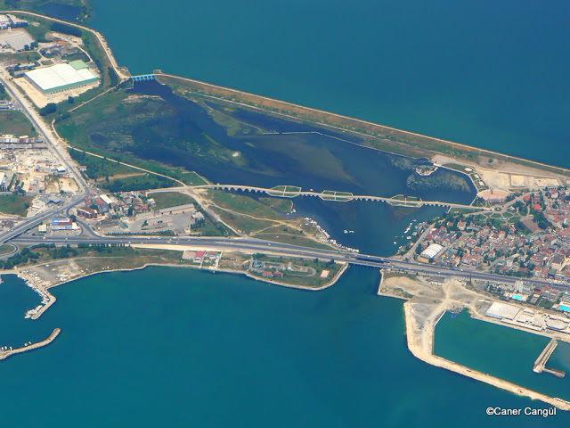 Havadan Büyükçekmece Köprüsü