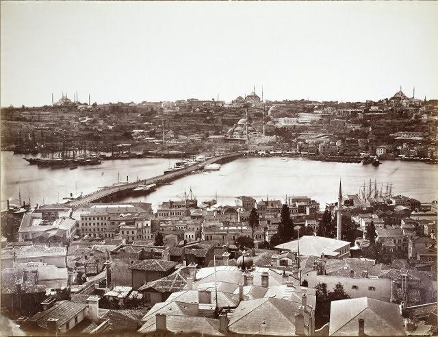 2. Galata Köprüsü Felix Bonfils fotoğrafı, 1870